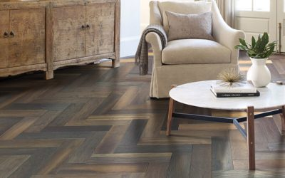 Herringbone pattern hardwood