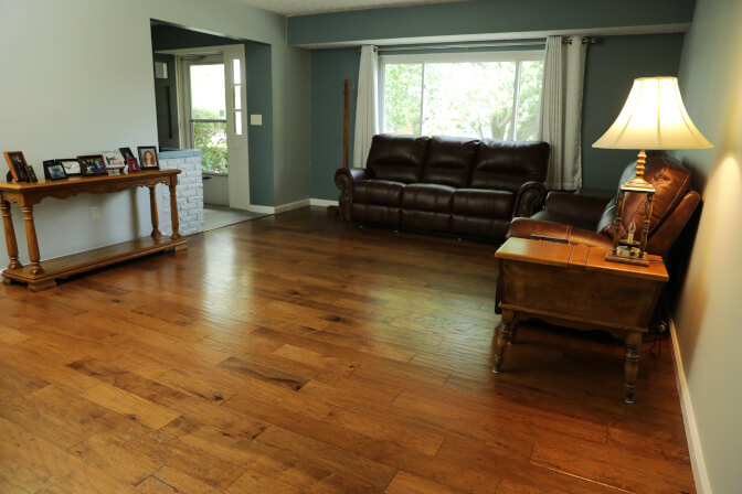 Whole house in Engineered hardwood from Bruce