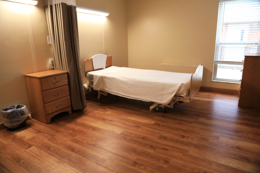 Luxury Vinyl Plank for a nursing home in Cincinnati