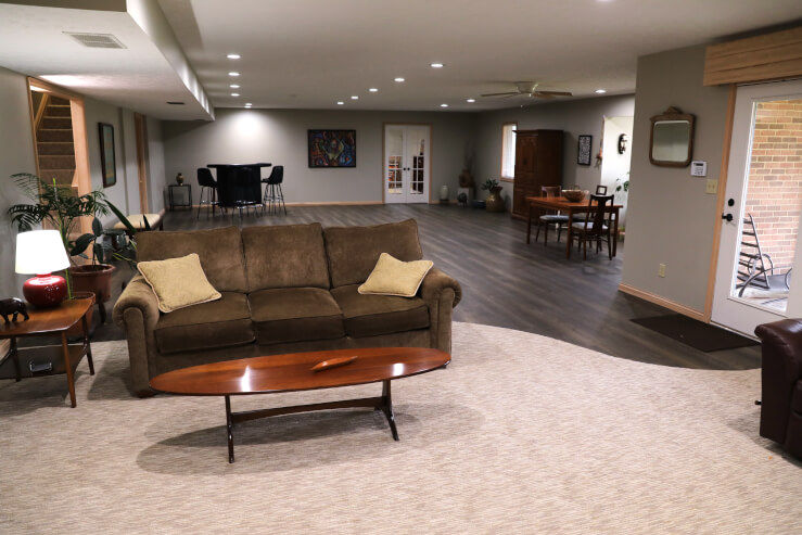 Perfect flooring for a basement